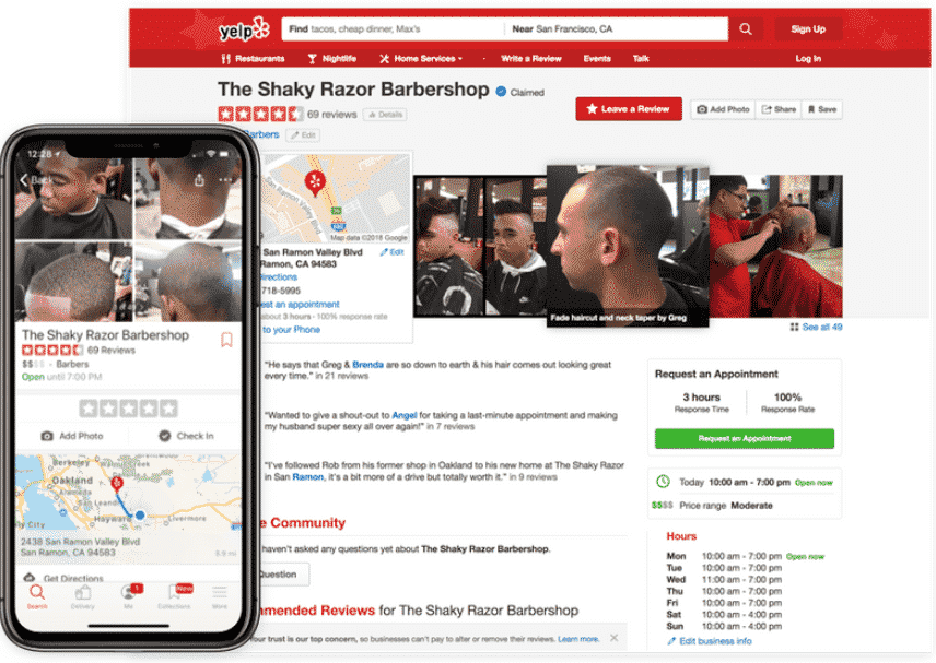 Yocale online scheduling yelp booking