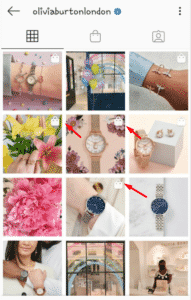 shoppable post in instagram page
