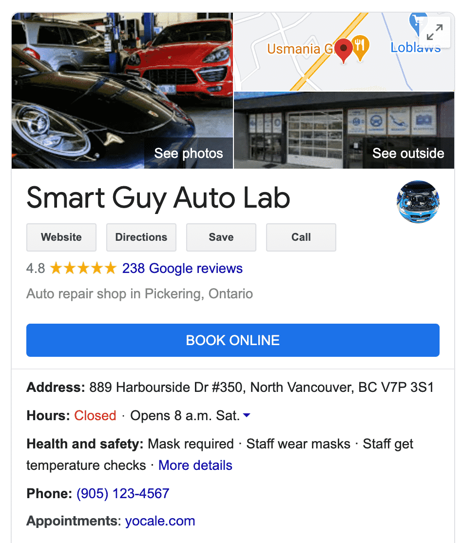 search result for auto lab with online scheduling feature