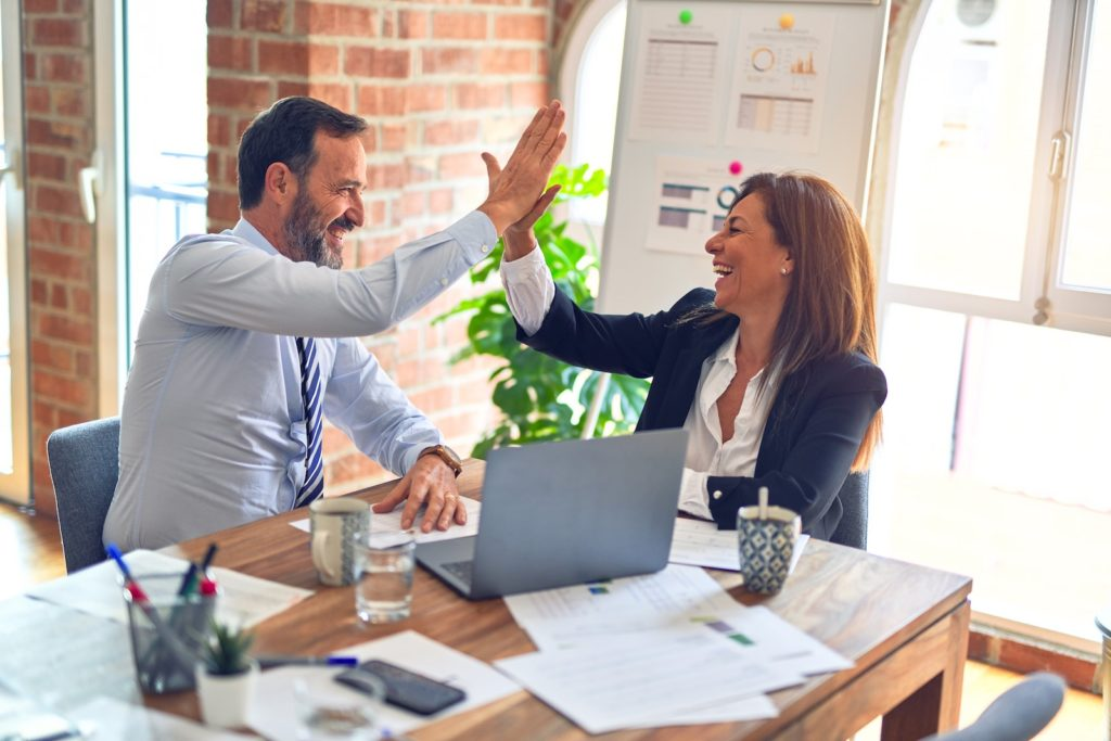 Small businesses improve by acquiring new customers owners
